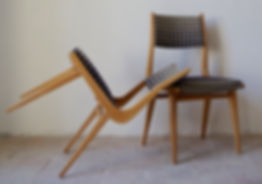 Chaise Moderne tissu Kirby Design