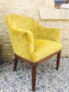fauteuil art déco tissu velours