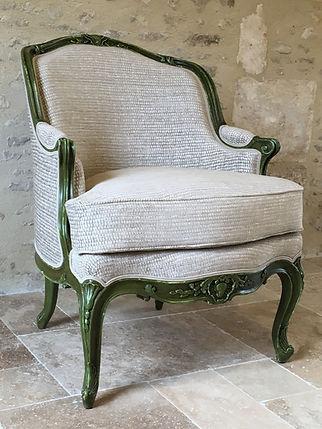 Bergère de style Louis XV