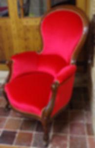 Fauteuil Pompadour à bois apparent - Louis Philippe
