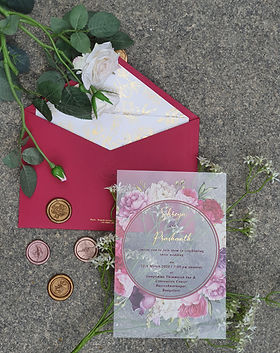 Floral Acrylic invitation
