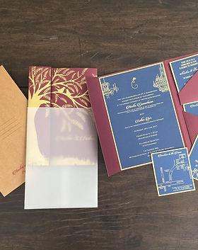 The Tamarind Tree, Bangalre - wedding invitation design