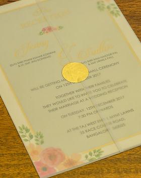 pastel and florl wedding invitation bangalore