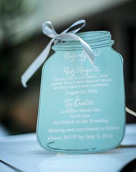Bech jar wedding invitation