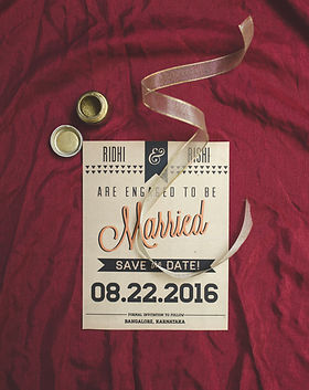 Modern wedding invitations and save the date designs in bangalore