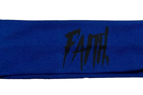 FAITH. Headband Blue - Black