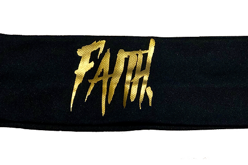 FAITH. Headband Black - Gold