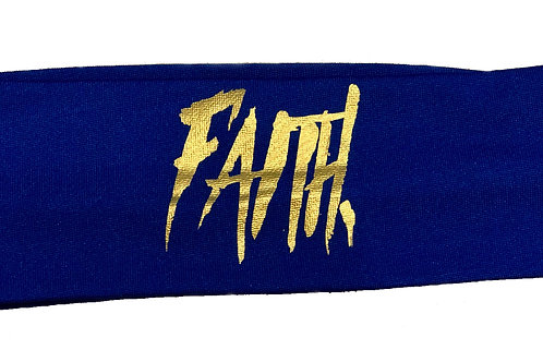 FAITH. Headband Blue - Gold