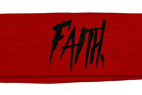 FAITH. Headband Red - Black
