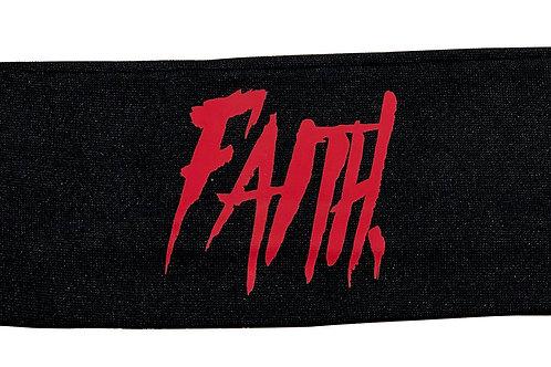 FAITH. Headband Black - Red