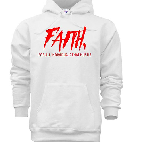 FAITH. Pullover White - Red