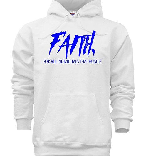 FAITH. Pullover White- Blue