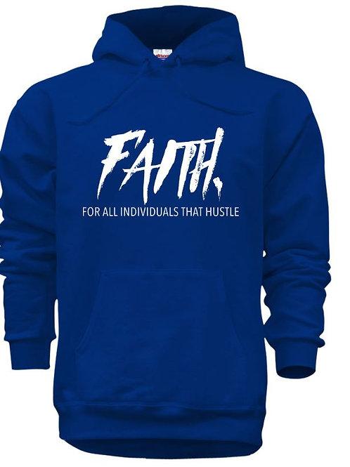 FAITH. Pullover Blue- White