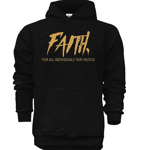 FAITH. Pullover Black- Gold