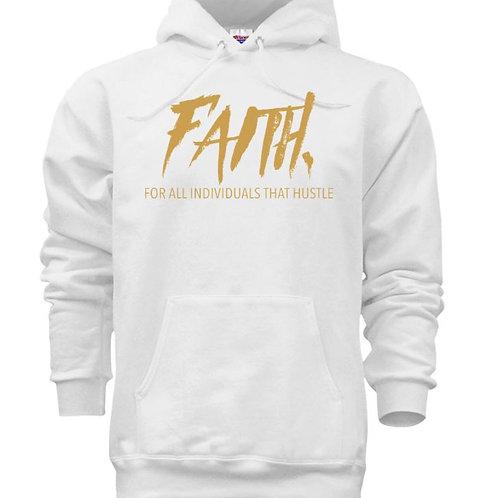 FAITH. Pullover White- Gold