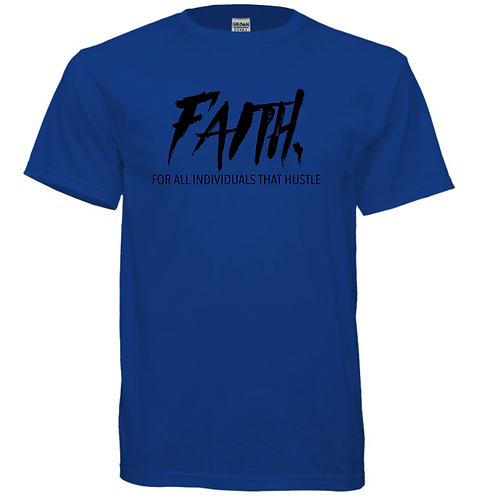 FAITH. Blue and Black