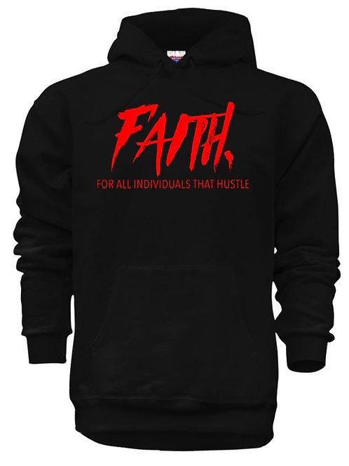 FAITH. Pullover Black- Red