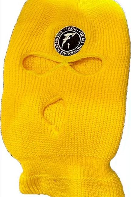 FAITH. Ski Mask- Yellow