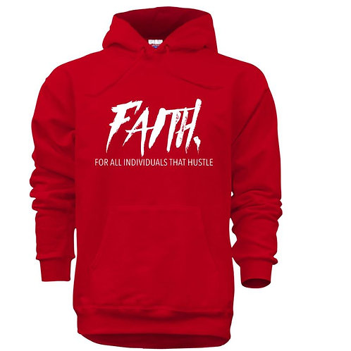FAITH. Pullover Red -White