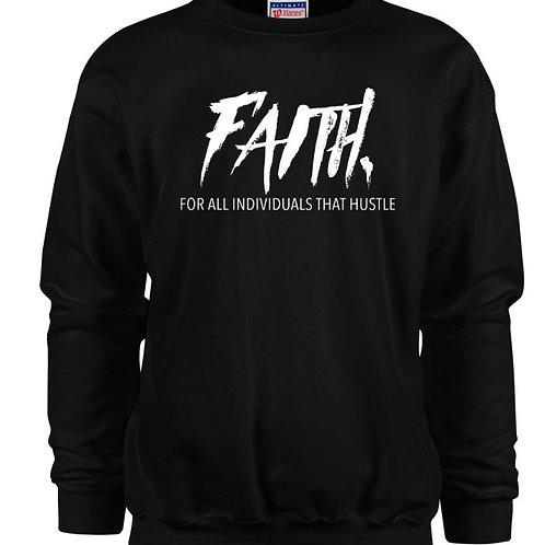 FAITH.Crewneck Black- White Logo