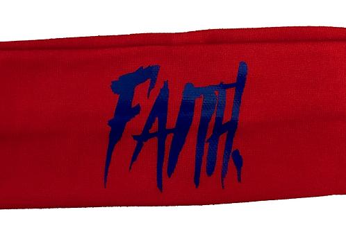 FAITH. Headband Red - Blue