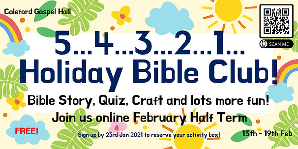 Holiday Bible Club - register here