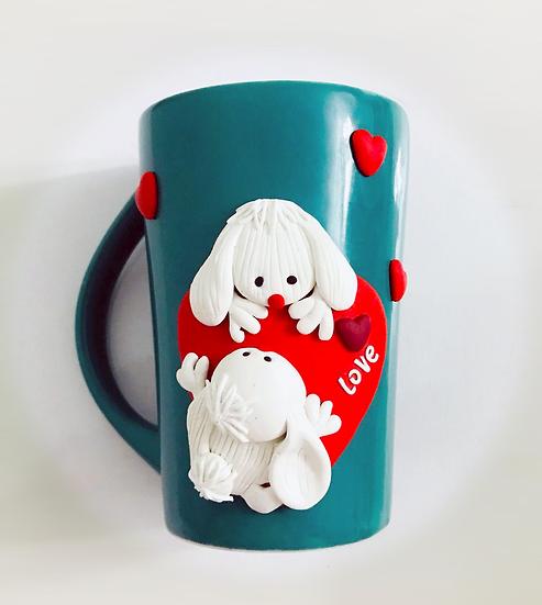 Mug Small White Dogs