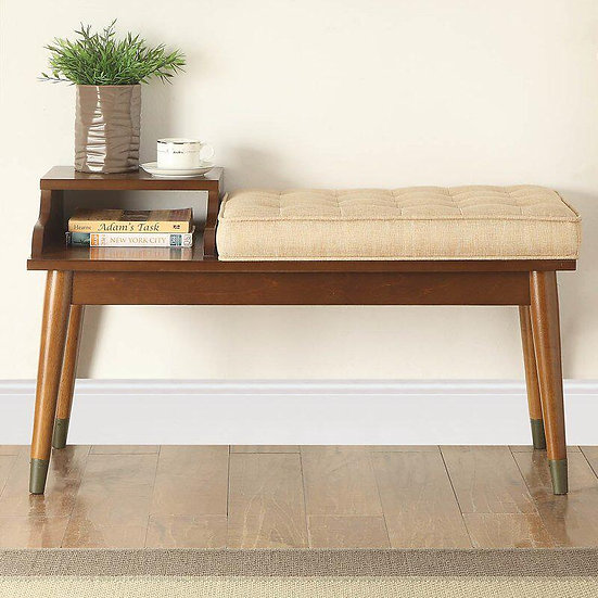 Baptis wood Bench with Storage