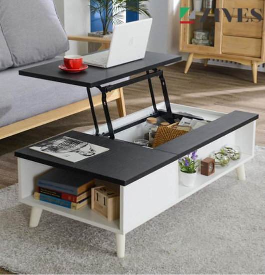 Lift top cocktail table Black color