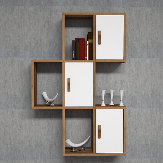 Storage unit with shelves
