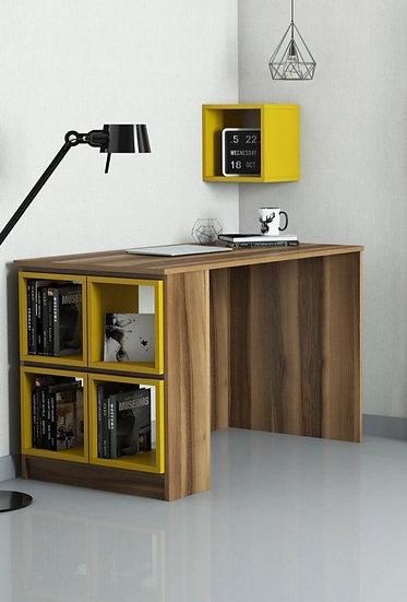 Smart desk with shelves