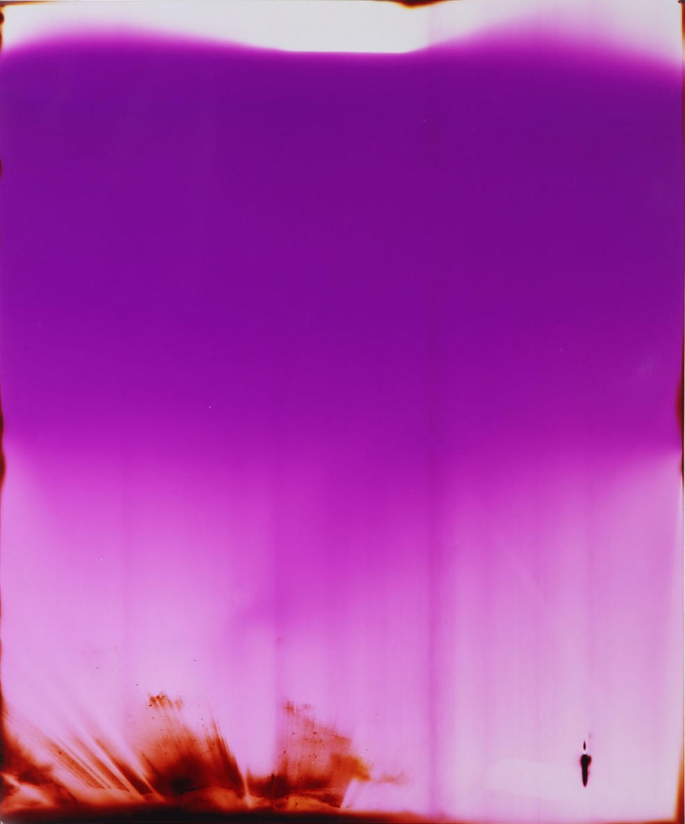 Light Bleeds. Unique colour photogram made from light in a bedroom after dark. 51 x 61cm. Kim Coleman and AK Knol. 2017.