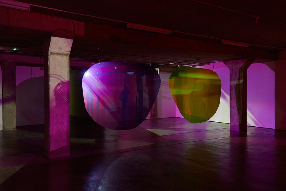 Polarised. Multi-channel video and light installation, Block 336 (2017)