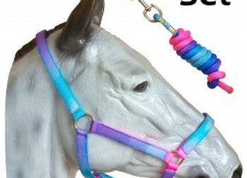 Unicorn Head collar & Lead Rope Set