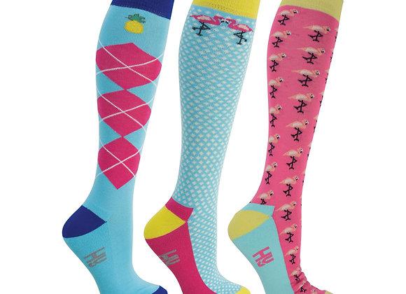 HyFASHION Flamingo Socks (Pack of 3)