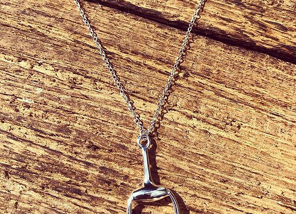 """925 Sterling Silver """"Snaffle"""" Pendant"""