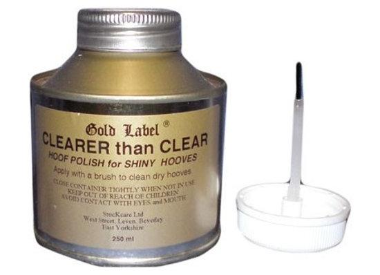 Gold Label Clearerthan Clear Hoof Varnish 250ml
