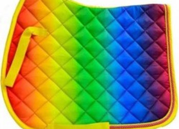 Rainbow Saddlepad