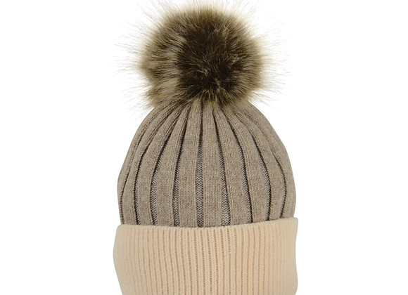 HY Equestrian Luxembourg Luxury Bobble Hat