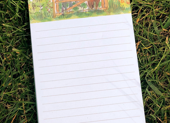 """Happy Horses"" Magnetic Shopping notepad"