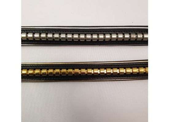 Padded Leather Clencher Browband