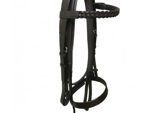 Economy Leather Hunter Bridle with Plaited Brow