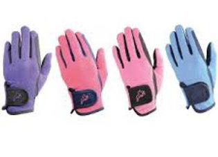 Hy Equestrian Hy 5 Children's Two Tone Riding Gloves