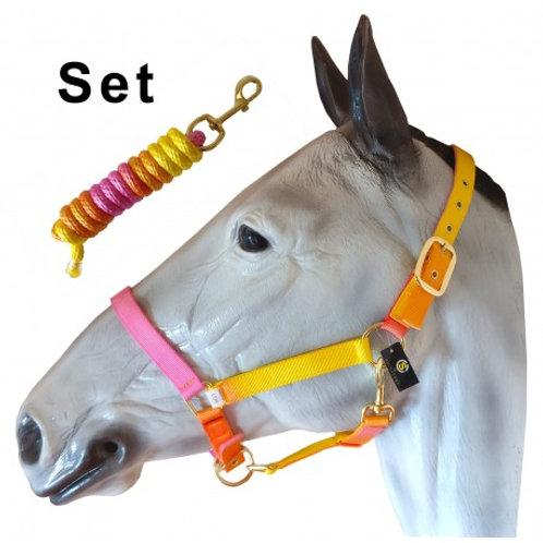Peach Melba Headcollar & Rope Set