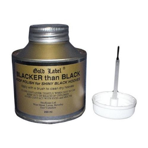 Gold Label Blacker Than Black varnish  250ml