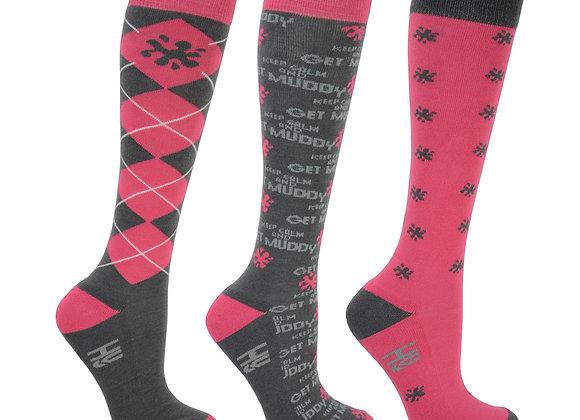 HyFASHION Keep Calm & Get Muddy Socks (Pack of 3)