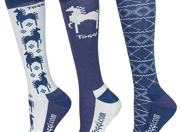 Toggi Heysham Fairisle Horse Socks
