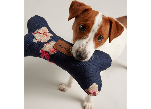 Joules Floral Dog Toy Bone