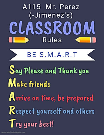 Copy of Printable Class Rules Poster Tem