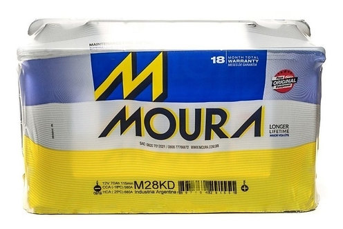 Bateria Moura M28kd 12x75 Reforzada (ranger  2013)